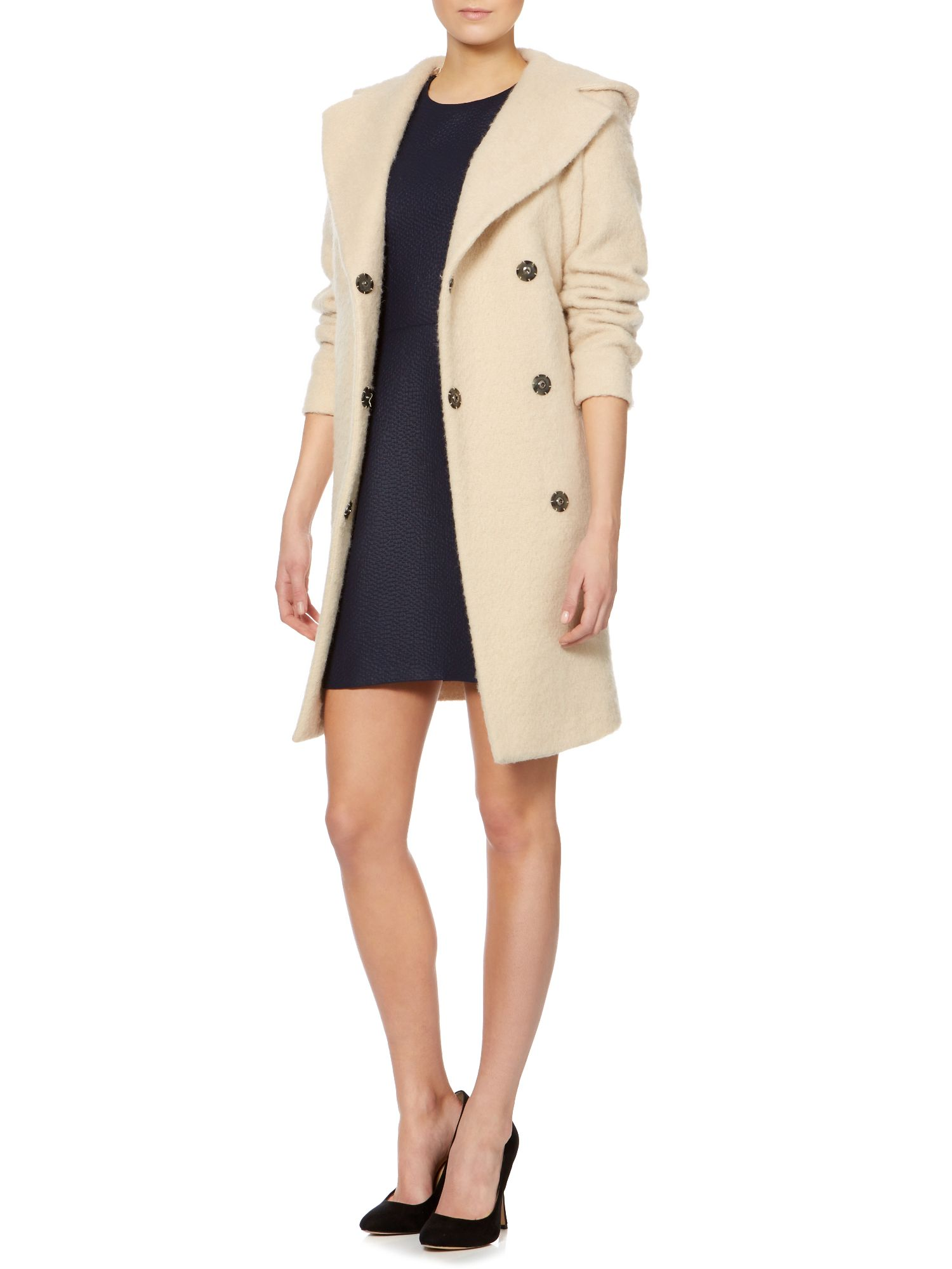 Spuma oversized hooded coat