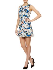 Cerea sleeveless floral printed dress