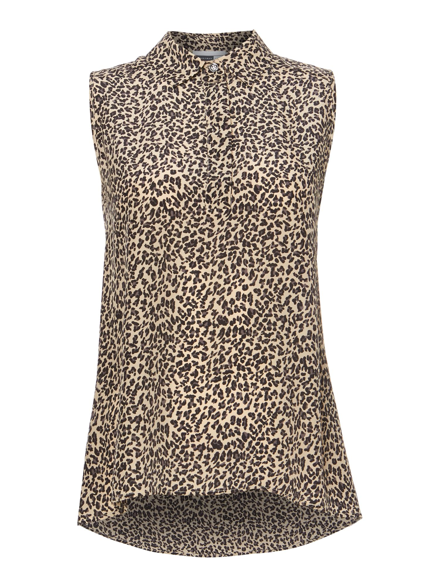 Vaimy short sleeved leopard print shirt
