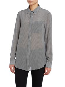 Canon long sleeved checked shirt