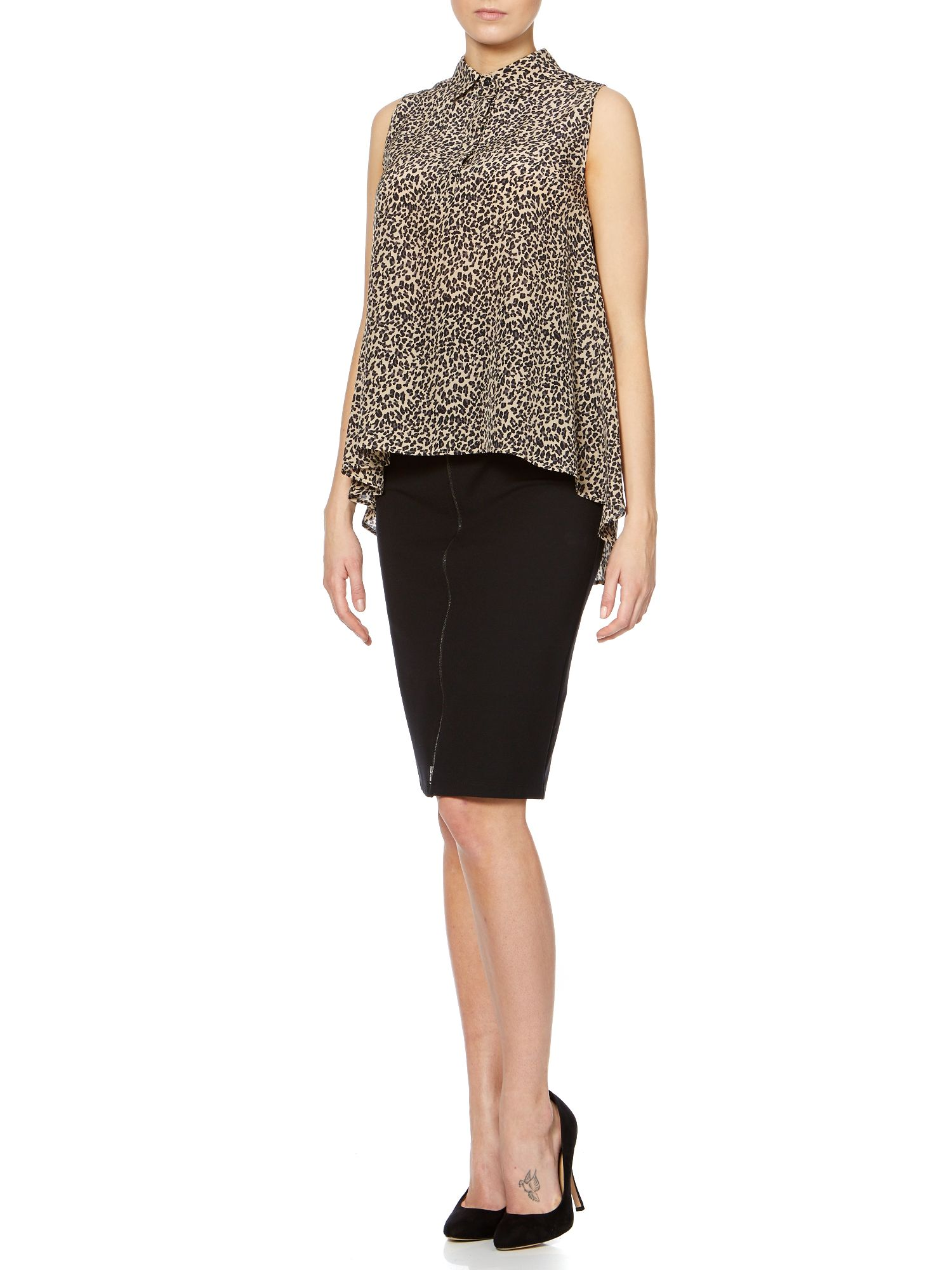 Durata pencil skirt with zip