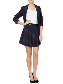 Apogeo checked skater skirt