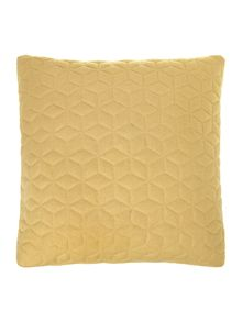 Quilted felt cushion, chartreuse