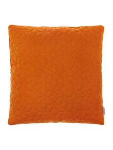 Quilted felt cushion, rust