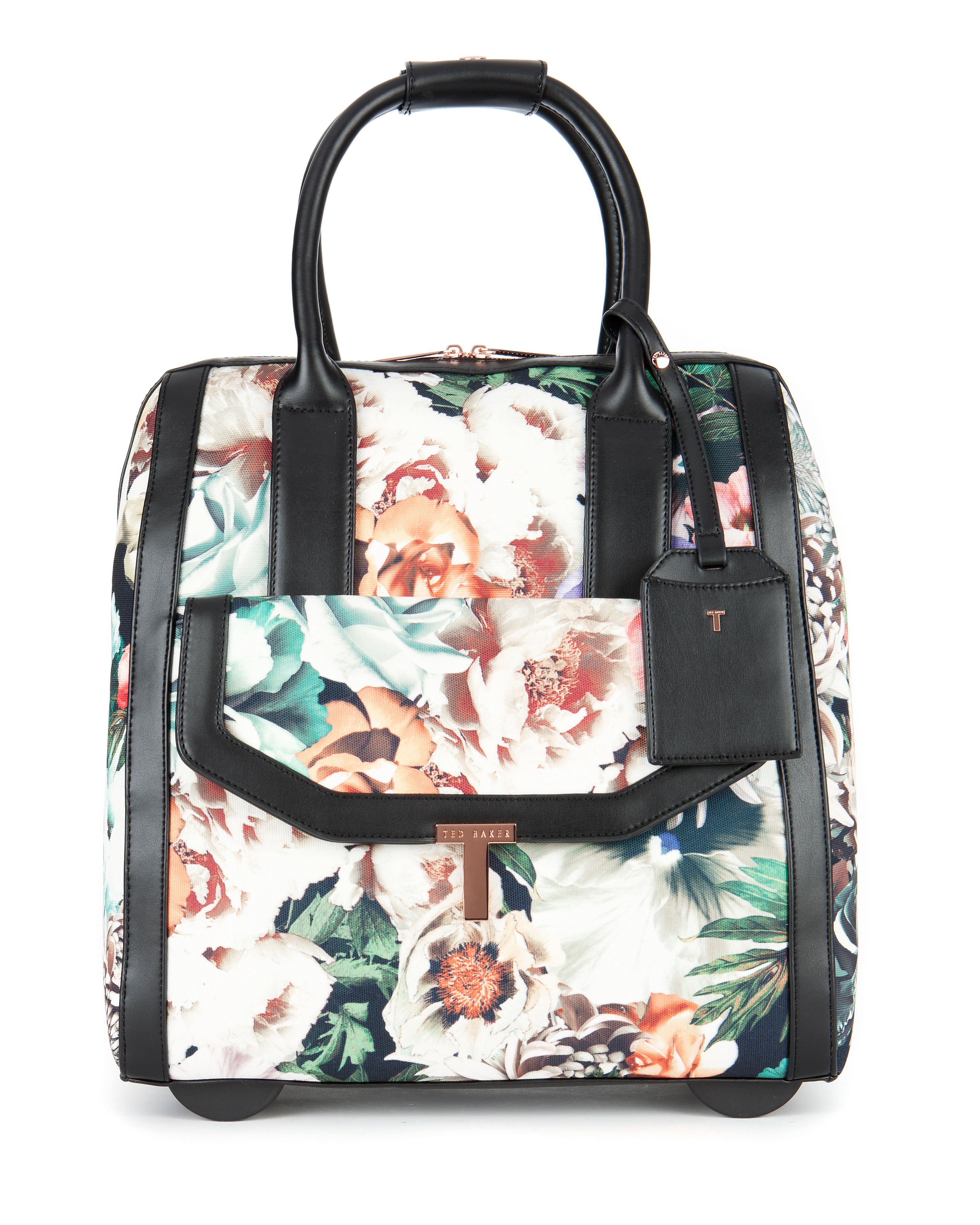 Taylah floral printed luggage