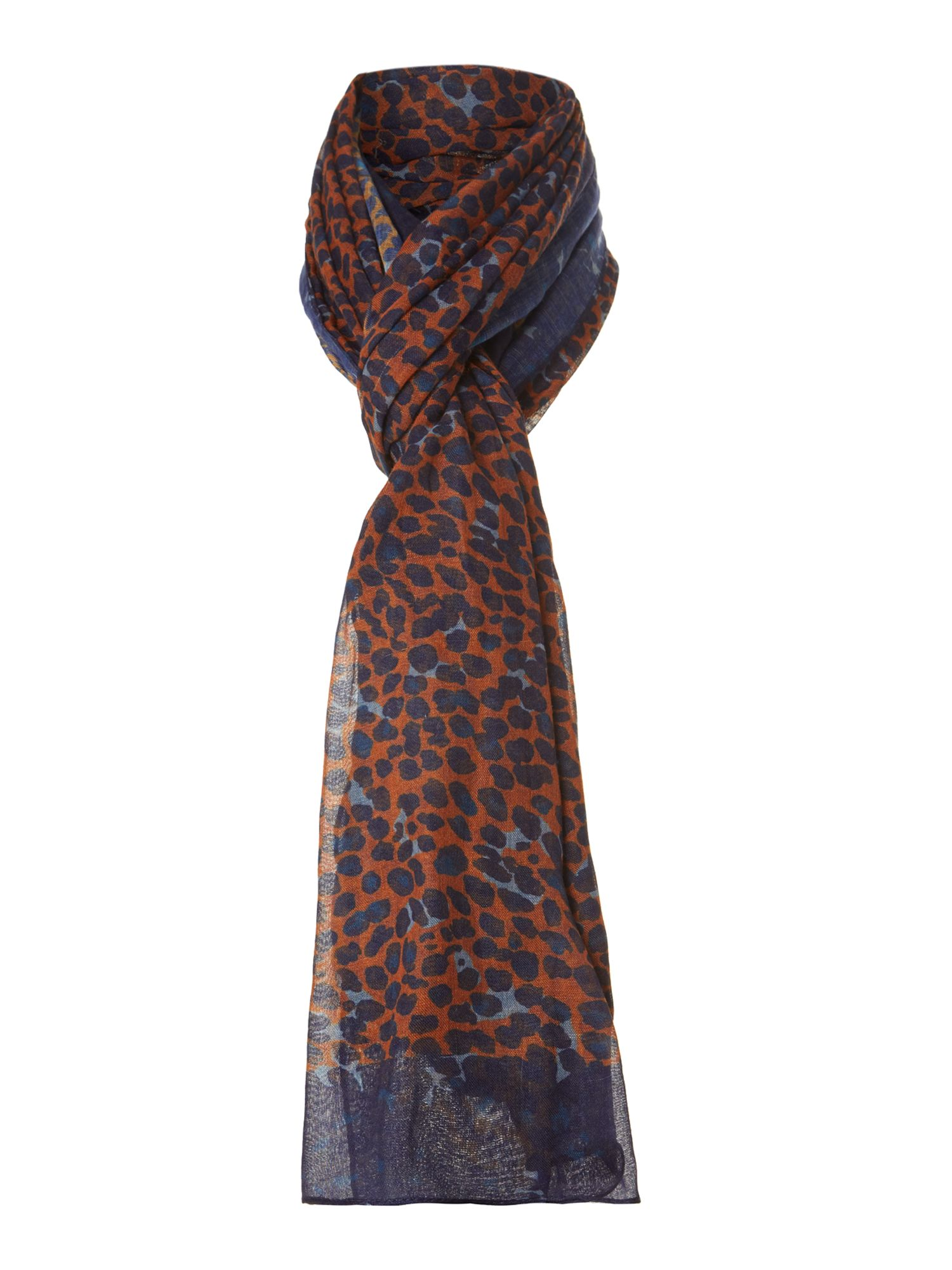 Blurred leopard oversized scarf