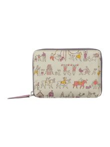 Beside the seaside multi medium zip around purse