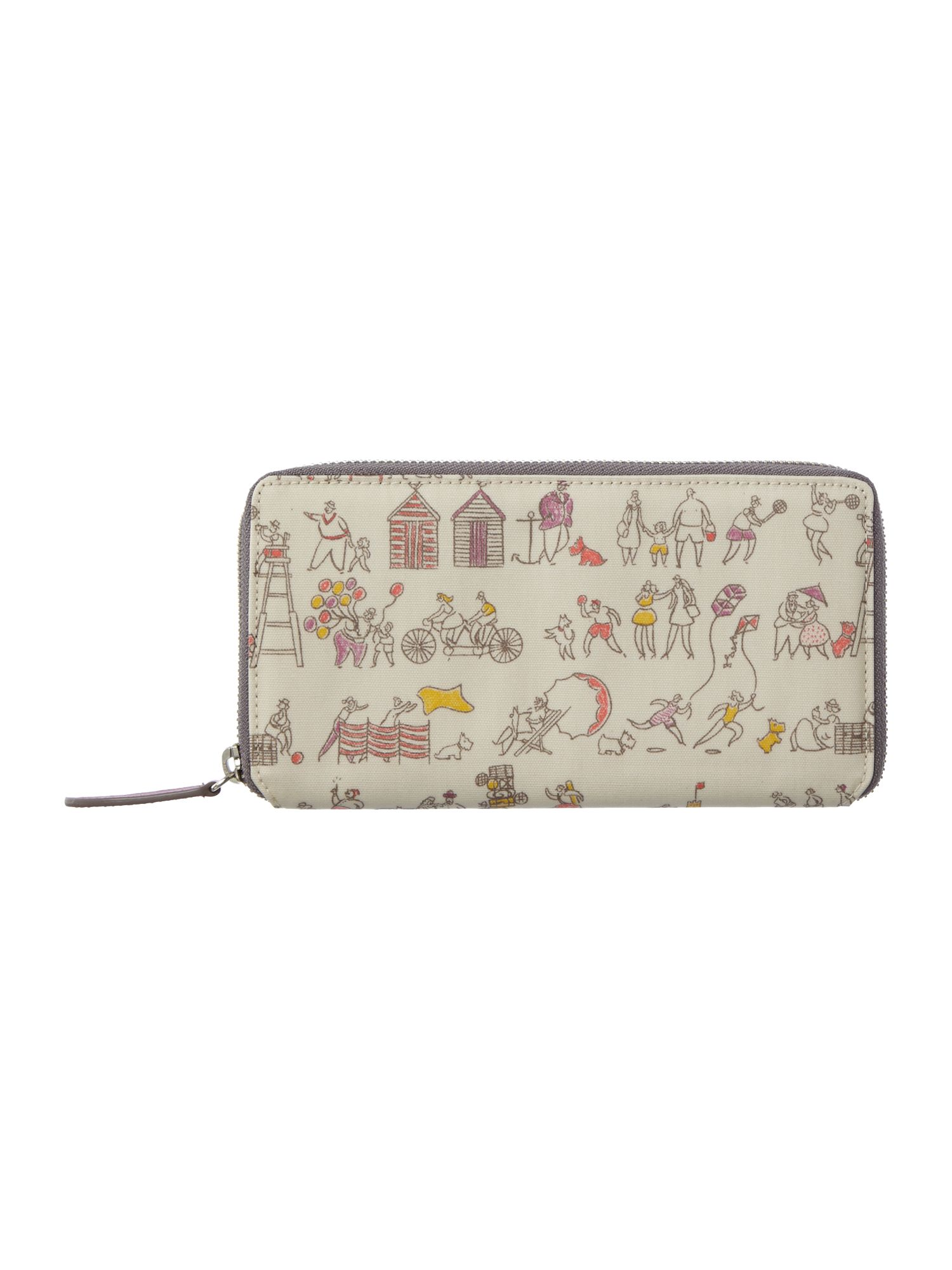 Multi large zip around purse