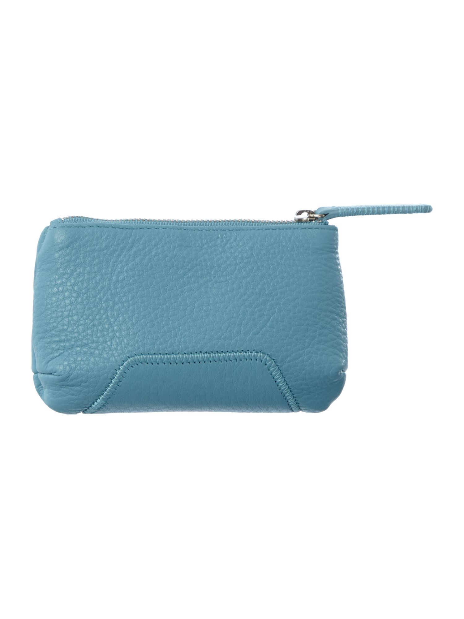 Blue medium zip pouch purse