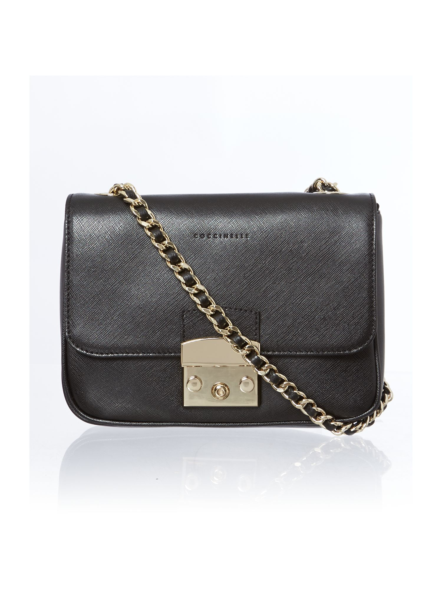 Black small chain cross body bag
