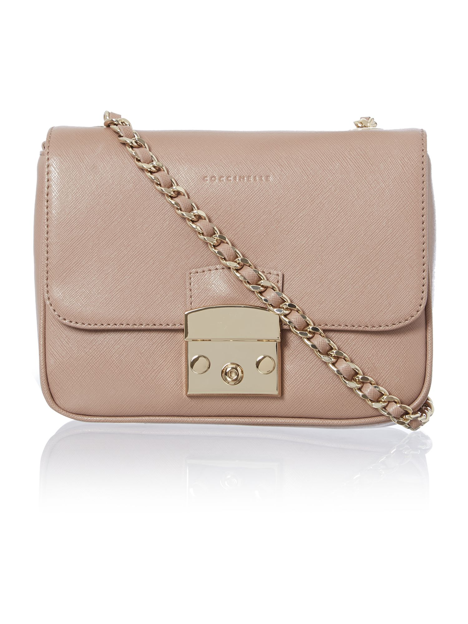 Neutral small chain cross body bag