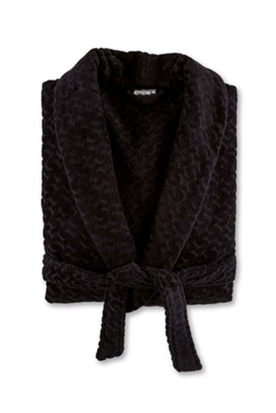 Move Shawl collar robe M in black