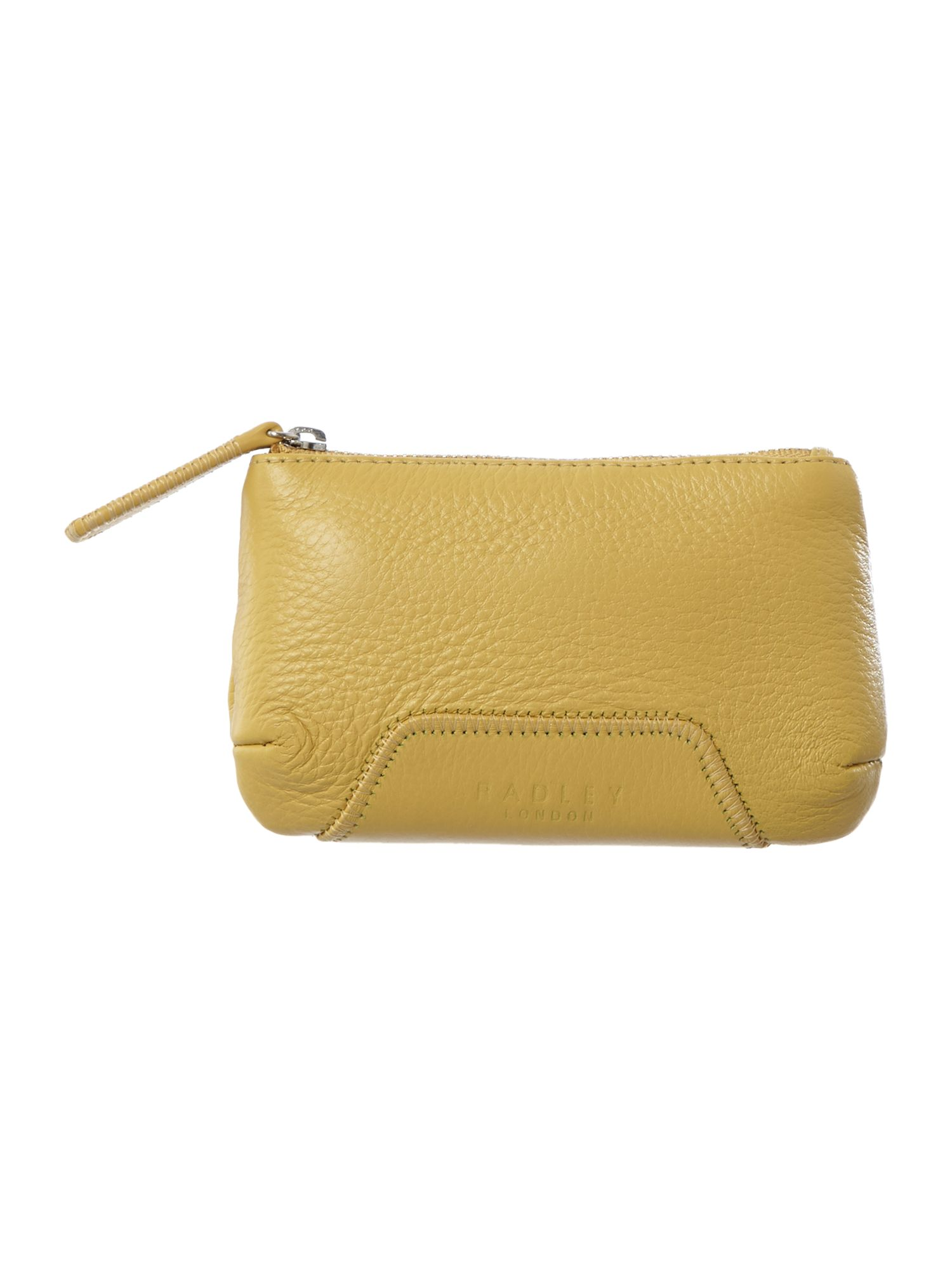 Dayton yellow medium zip pouch purse