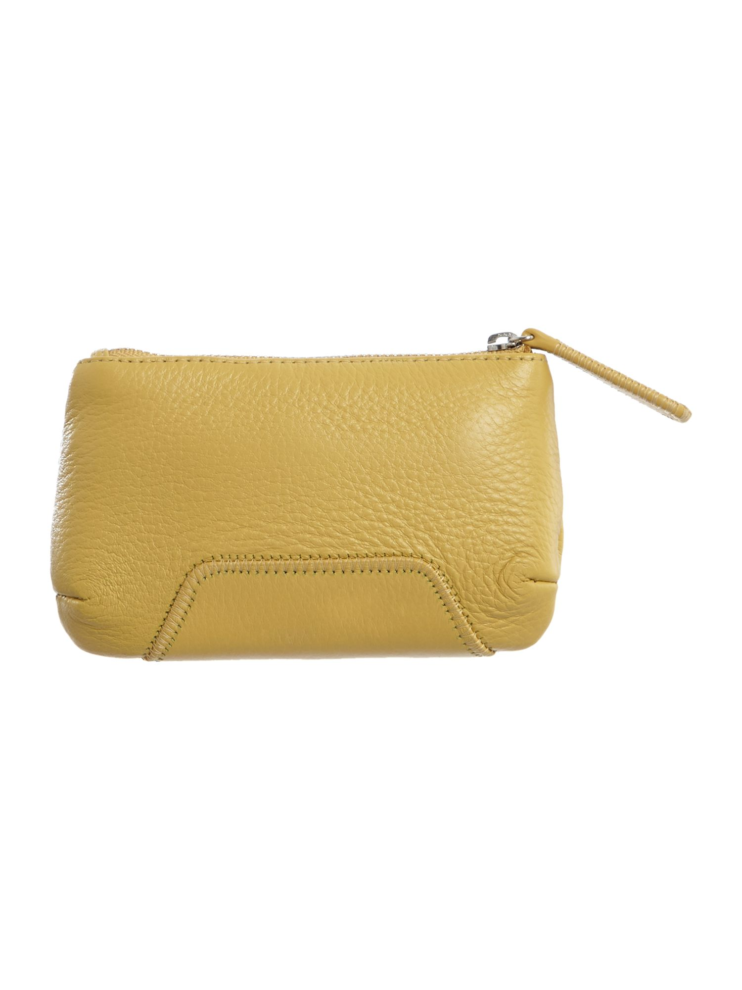Yellow medium zip pouch purse