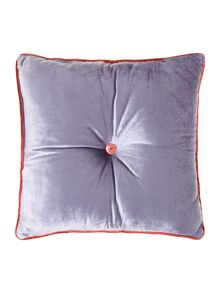 Button velvet cushion, violet