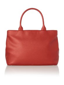 Bow red tote bag