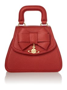 Bow red mini dome bag