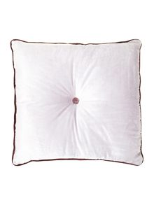 Button velvet cushion, grey