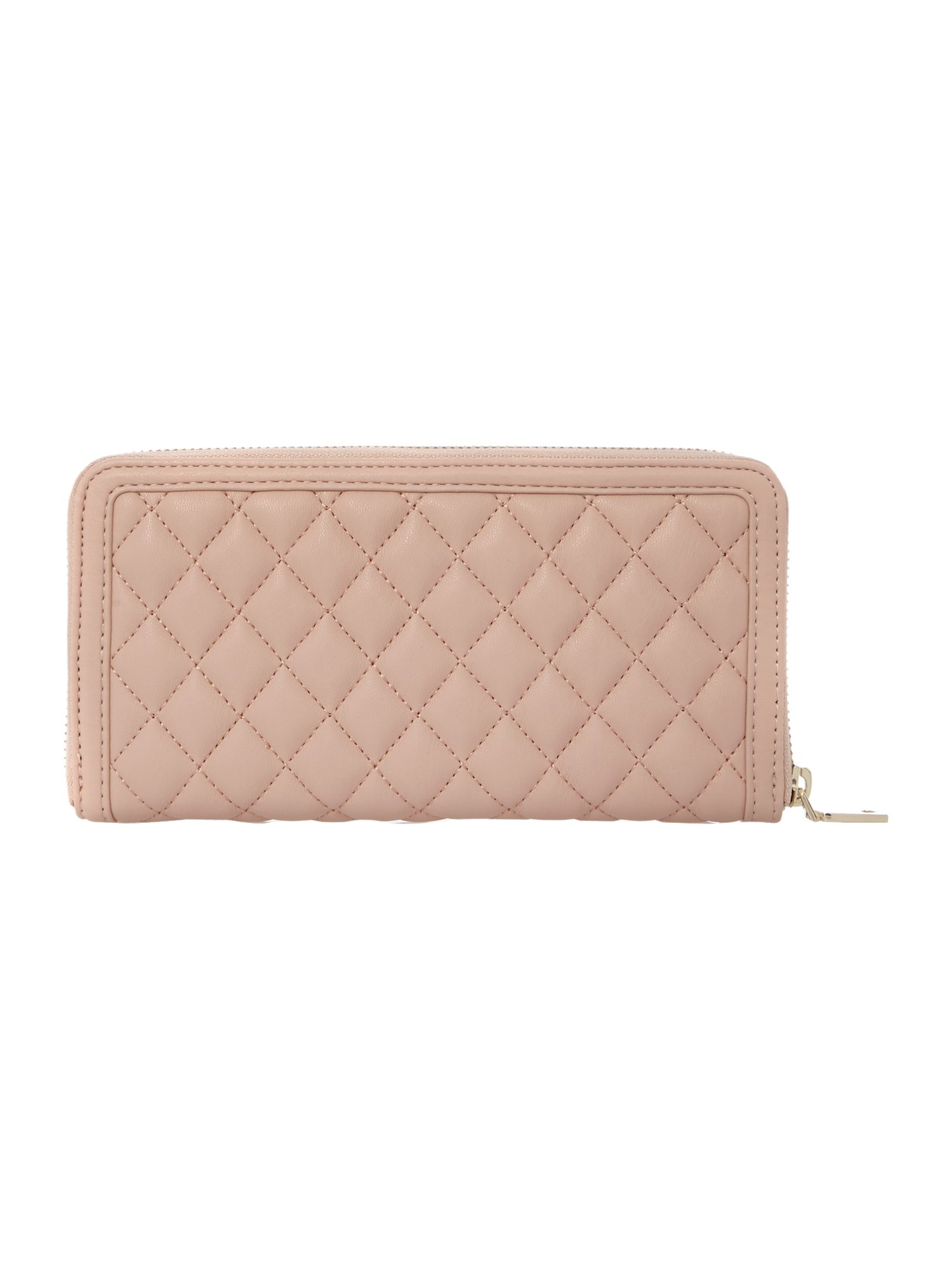 Pink large quilt ziparound purse