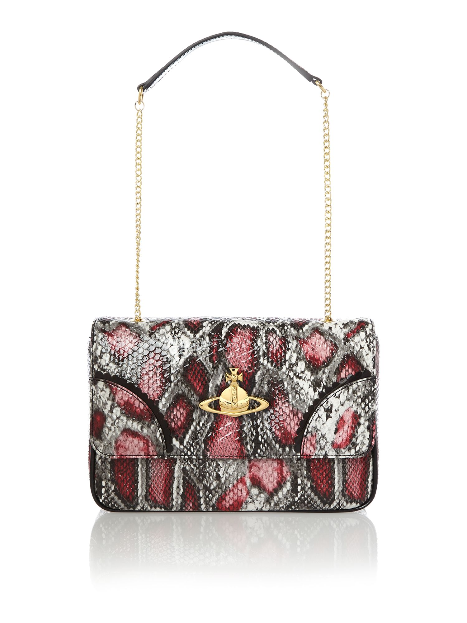 Frilly Snake multi coloured shoulder bag