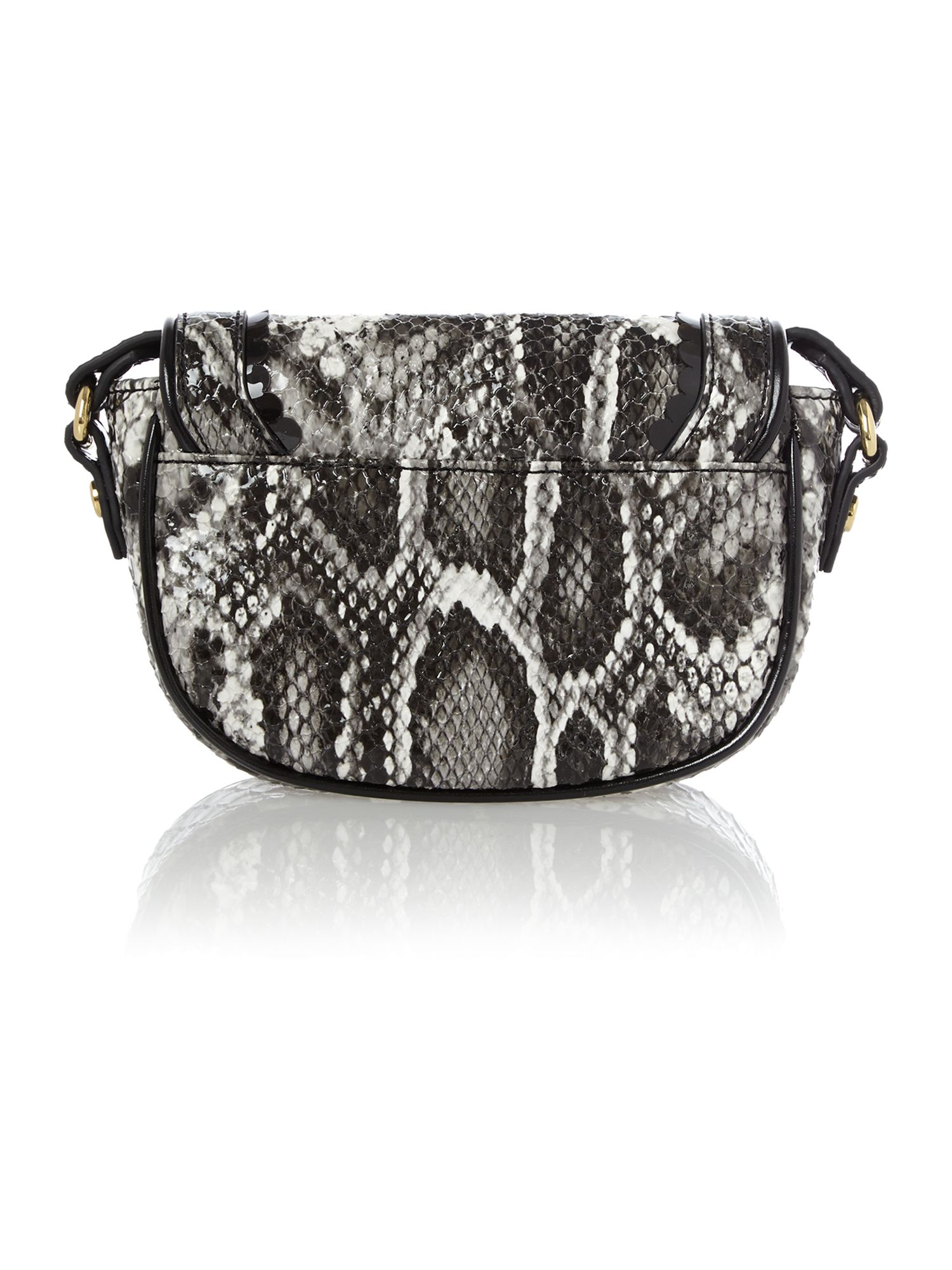 Frilly Snake grey snake cross body bag