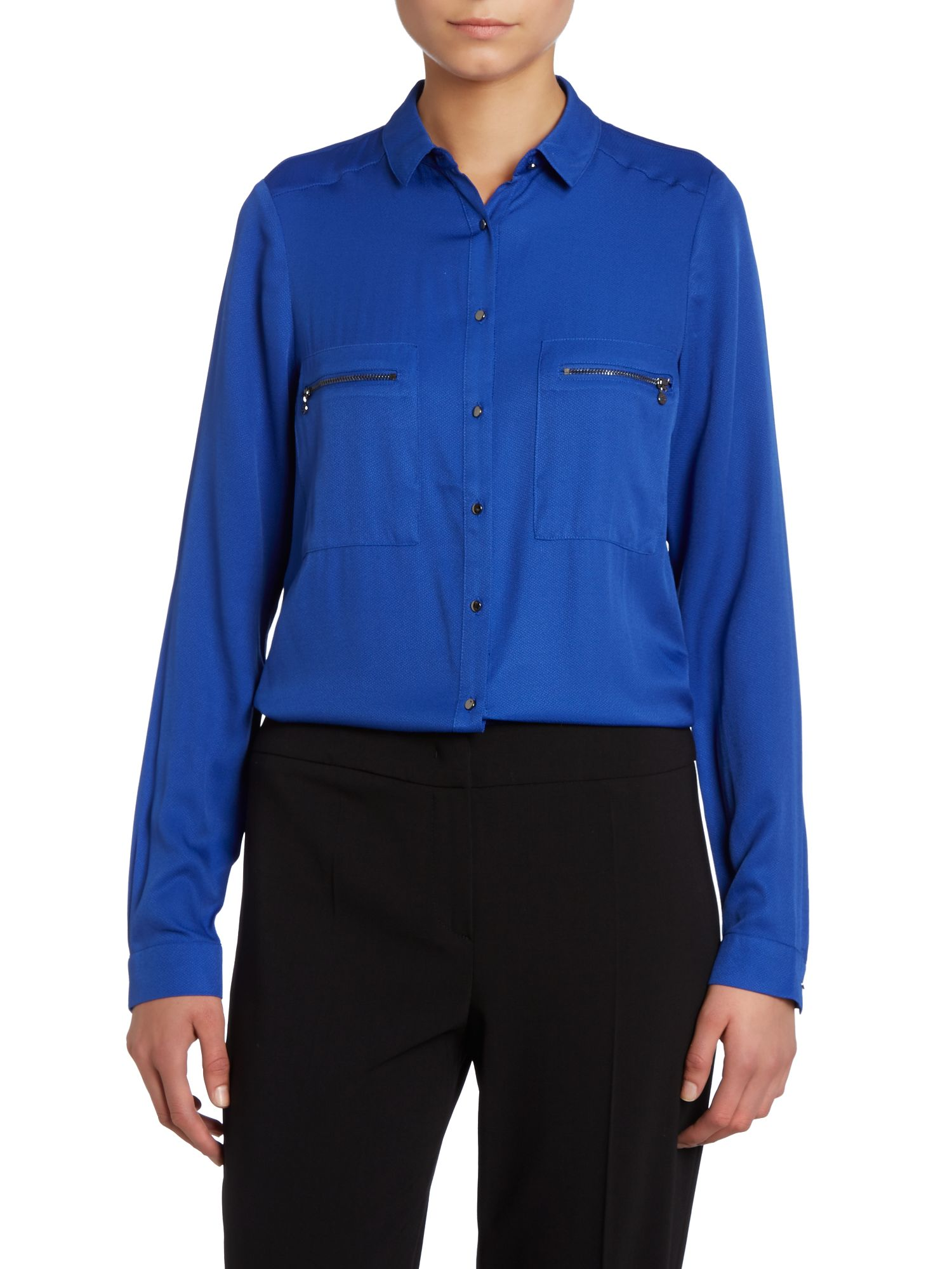 Long sleeve shirt with zip pockets