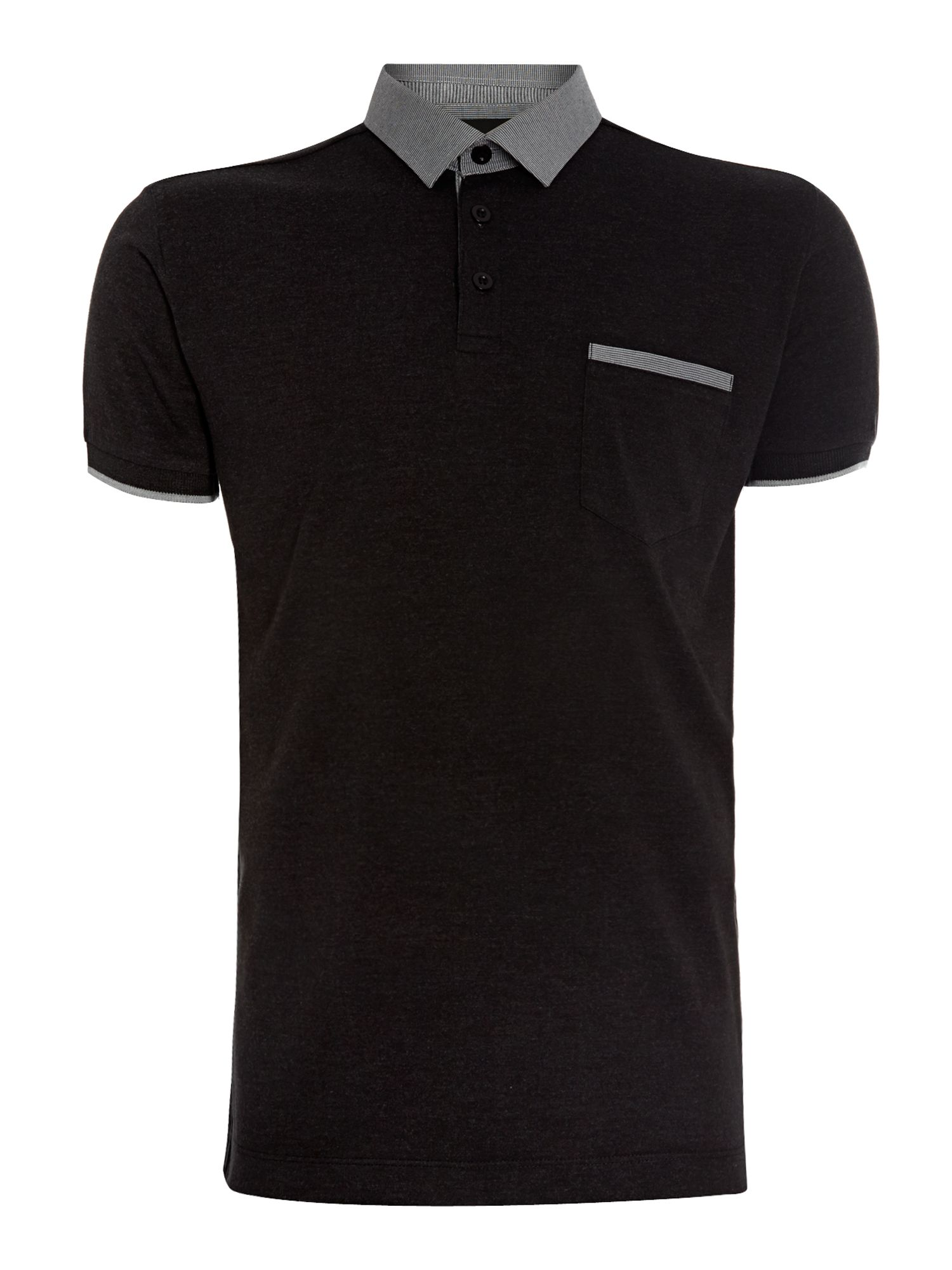 Plain regular fit polo shirt
