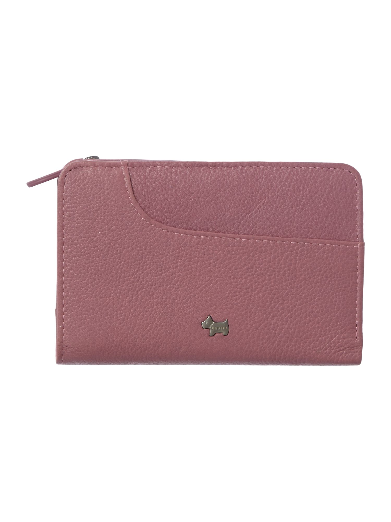 Pocket bag pink medium zip around purse