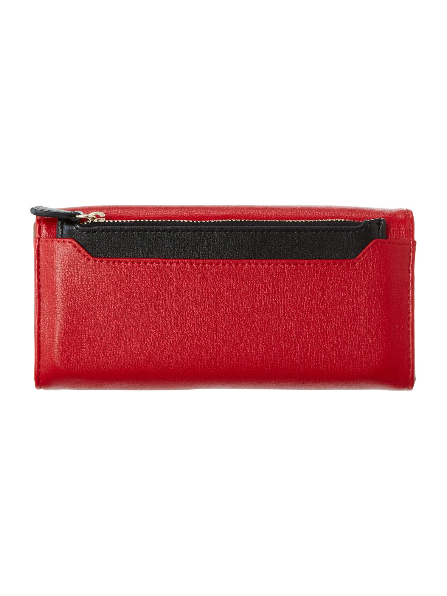 Red and pink colourblock flapover purse
