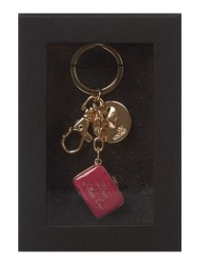 Pink love bag keyring