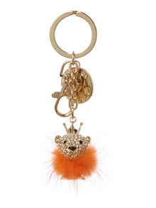Orange lion keyring