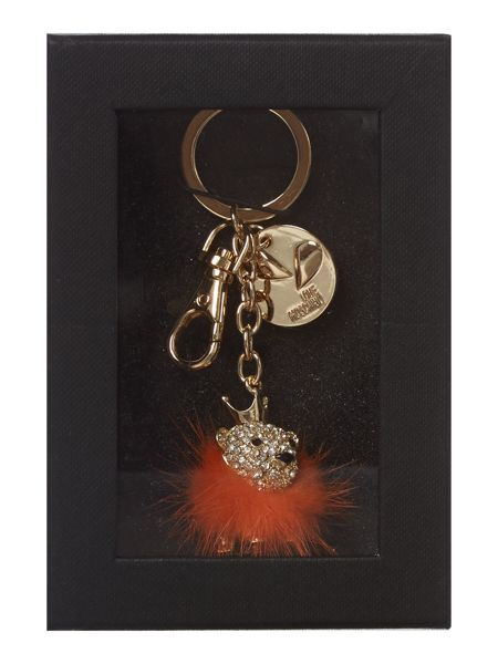 Love Moschino Orange lion keyring