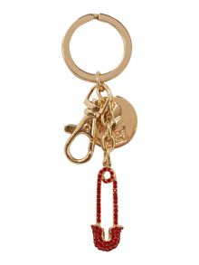 Red safety pin keyring