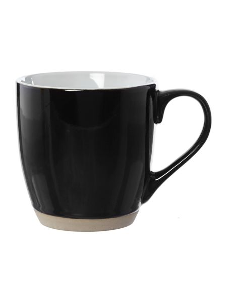 Linea Ebony black mug