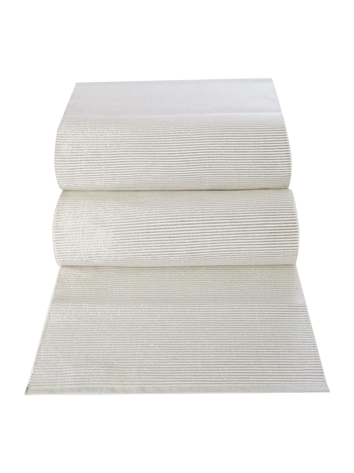 Ivory Sparkle Ribbed Canterbury Runner