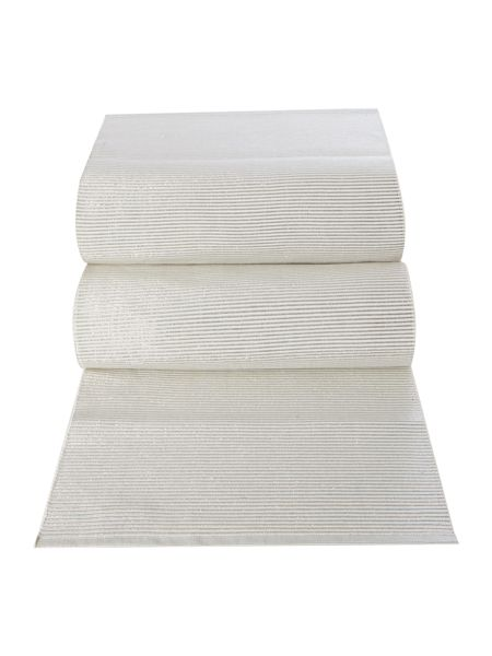 Linea Ivory Sparkle Ribbed Canterbury Runner