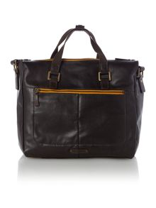 Dylan brown large zip top gym bag