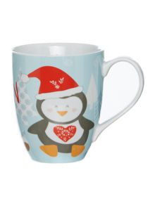 Xmas Penguin boxed mug