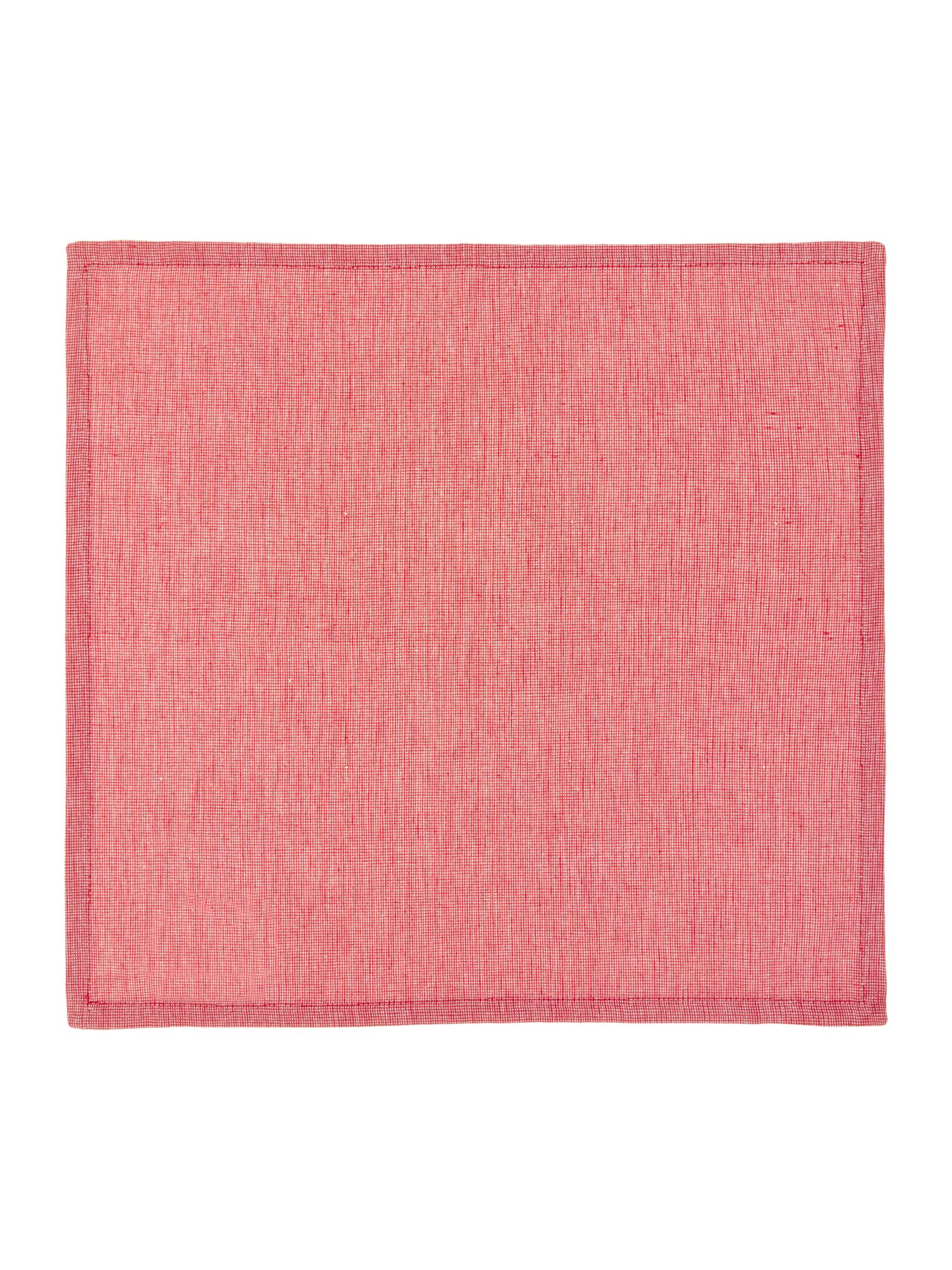 Red Canterbury Napkins S/4