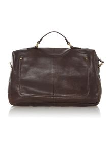 Giles dark brown large zip top holdall