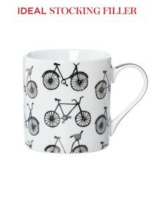 All over bicycles mug