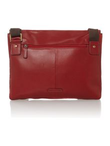 Luis red medium flapover despatch business bag