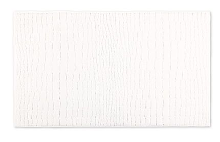 Plain bath mat with croco cut in snow