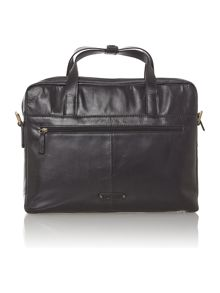 Luis black medium zip briefcase bag