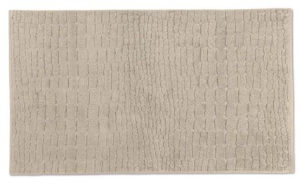 Plain bath mat with croco cut in papyrus