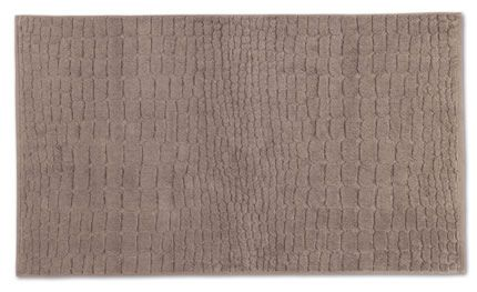 Plain bath mat with croco cut in cashmere