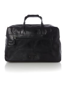 Luis black large zip top holdall
