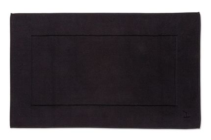 Plain dye bath mat in black