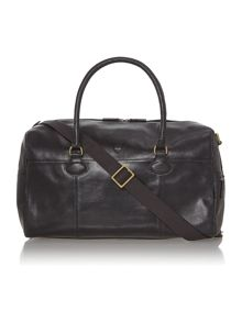 Parker black large zip top holdall