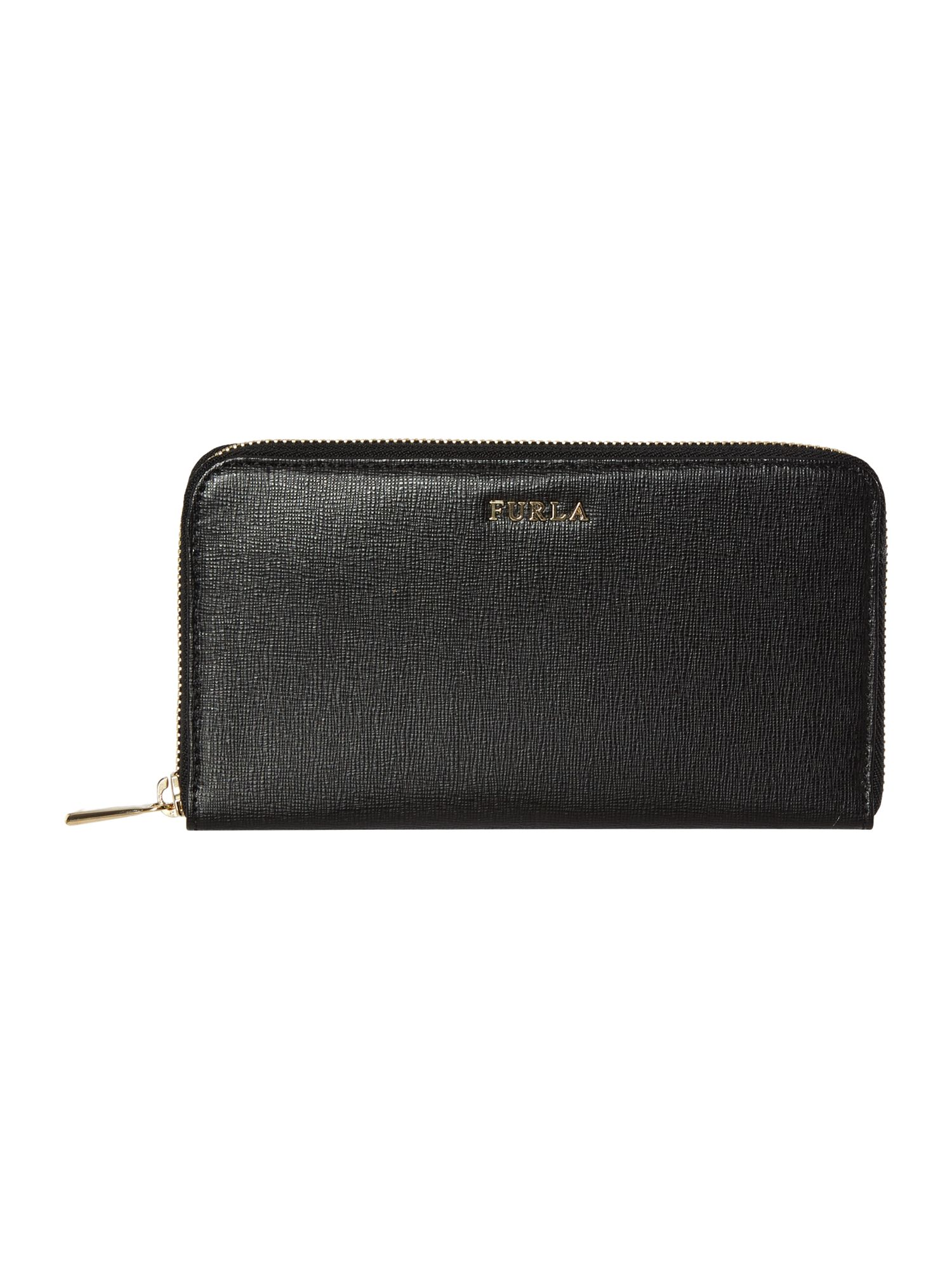 Babylon black large ziparound purse